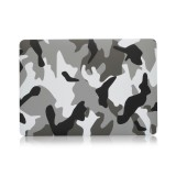 Grey Camouflage Pattern Laptop Water Decals PC Protective Case for MacBook Pro 15.4 inch A1990 (2018)