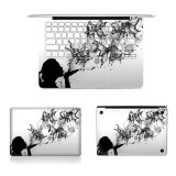 3 in 1 MB-FB14 (4) Full Top Protective Film + Full Keyboard Protector Film + Bottom Film Set for MacBook Air 13.3 inch A1466 (2012 – 2017) / A1369 (2010 – 2012), US Version