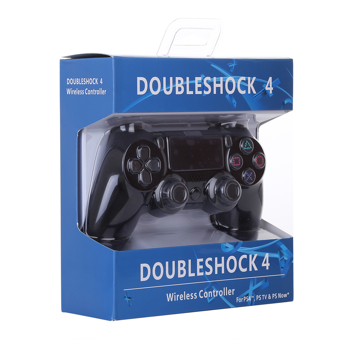 Wireless Bluetooth Snowflake Button Game Controller for Sony PS4 (Black)