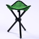 Hiking Outdoor Camping Fishing Folding Stool Portable Triangle Chair Maximum Load 100KG Folding Chair Size: 22x22x31cm (Green)