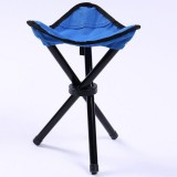 Hiking Outdoor Camping Fishing Folding Stool Portable Triangle Chair Maximum Load 100KG Folding Chair Size: 22x22x31cm (Blue)