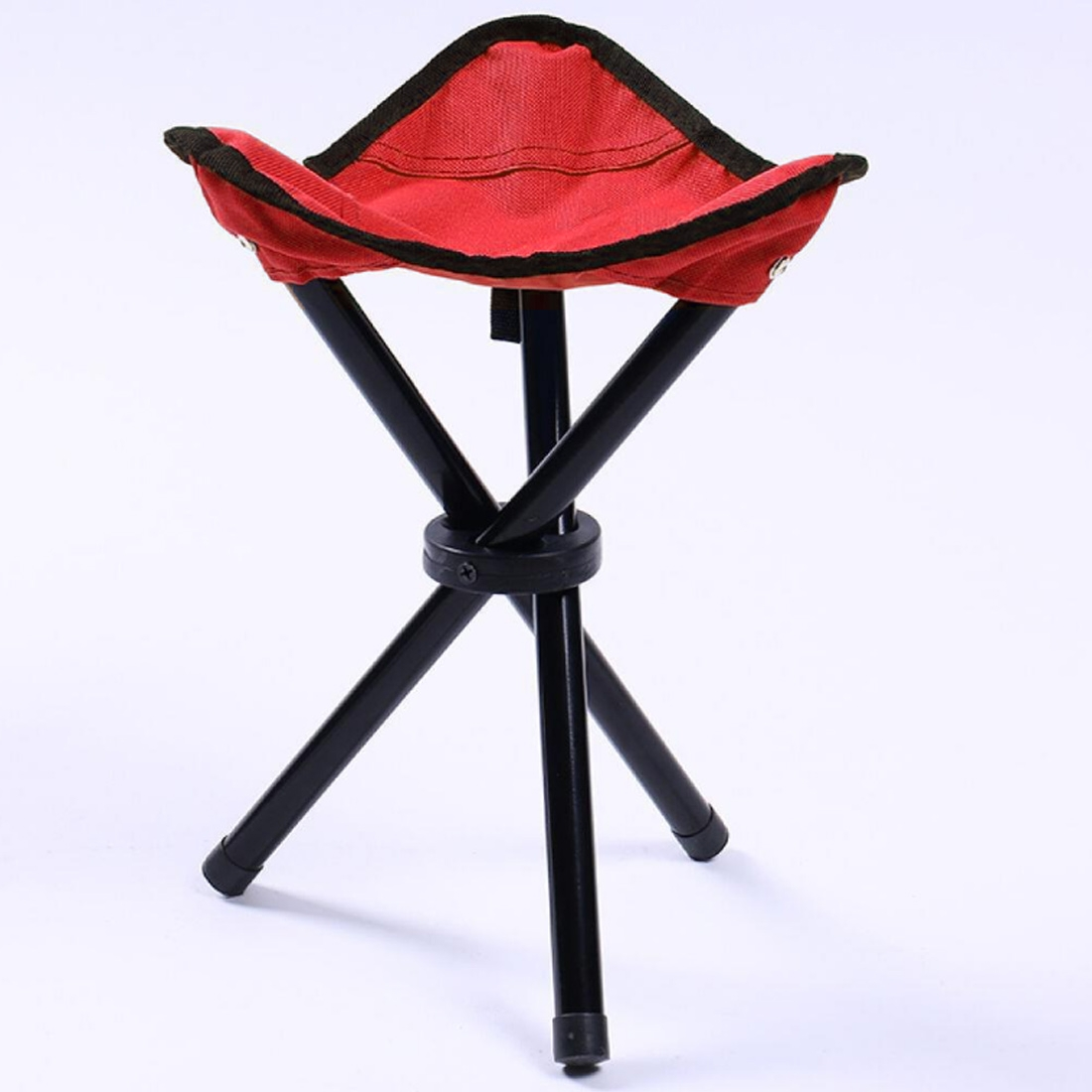 Cool Hiking Outdoor Camping Fishing Folding Stool Portable Triangle Chair Maximum Load 100Kg Folding Chair Size 22X22X31Cm Red Unemploymentrelief Wooden Chair Designs For Living Room Unemploymentrelieforg