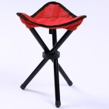 Hiking Outdoor Camping Fishing Folding Stool Portable Triangle Chair Maximum Load 100KG Folding Chair Size: 22x22x31cm (Red)