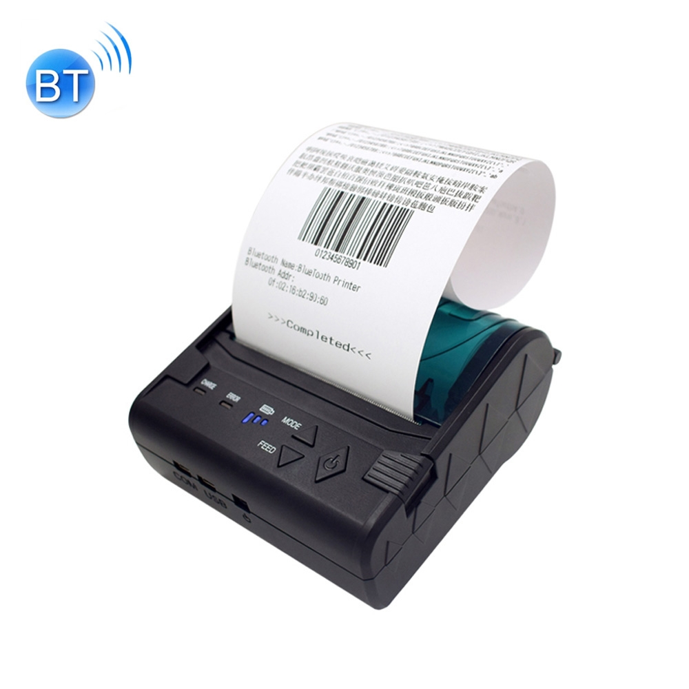 POS-8003 Portable Thermal Bluetooth Ticket Printer, Max Supported Thermal  Paper Size 80x50mm