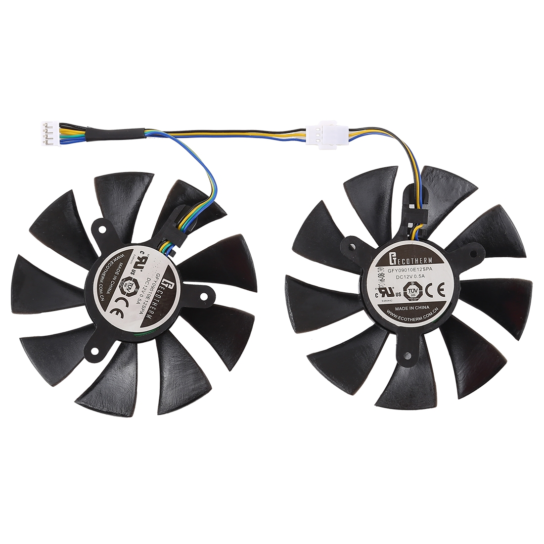 Incredible Dc 12V 0 5A 4 Pin Female Original Desktop Computer Radiator Cooling Fan Cpu Cooling Fan Diameter 8 5Mm Pairs Beutiful Home Inspiration Aditmahrainfo