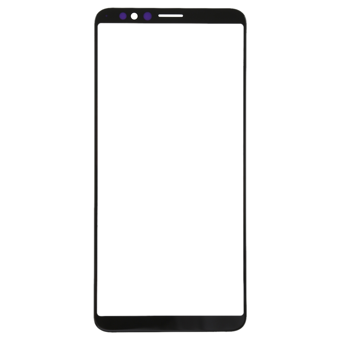 front screen outer glass lens for oppo r11s  black