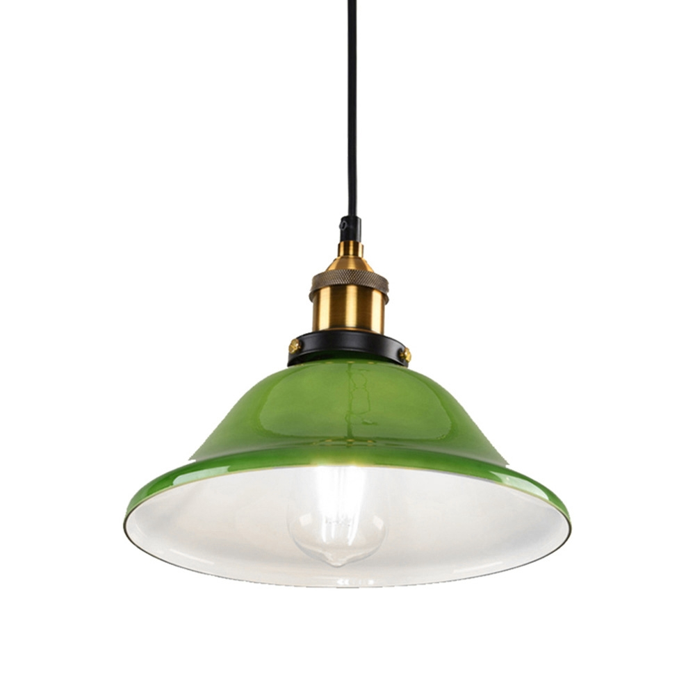 Ywxlight Led Industrial Edison Vintage Style Hanging Lamp Green Emerald Glass Pendant Light With E27 Bulb Cold White