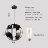 YWXLight Earth Hanging Ceiling Lamp Fixture Ceiling Fixture Fashion Kitchen Pendant Light