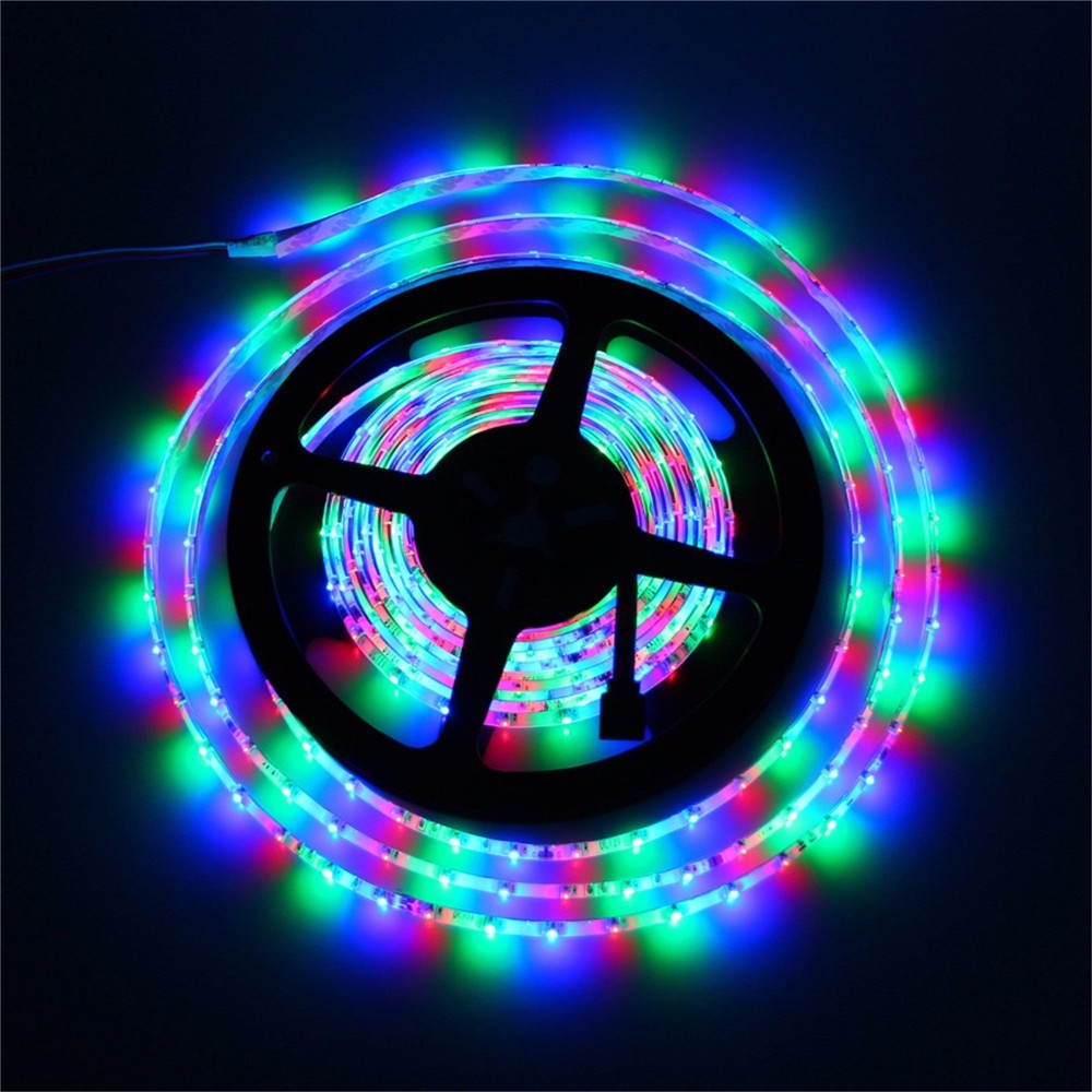 YWXLight LED Strip Lights, RGB 300 LED Strip Light 5m 60LEDs/m SMD 2835 LED Strip 12V NoWaterproof Flexible LED Strip Light