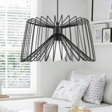 YWXLight Nordic Modern Hanging Lamp Creative Iron Art Simple Spider Pendant Light E27 Bulb Perfect for Kitchen Dining Room Bedroom Living Room (Cold white)
