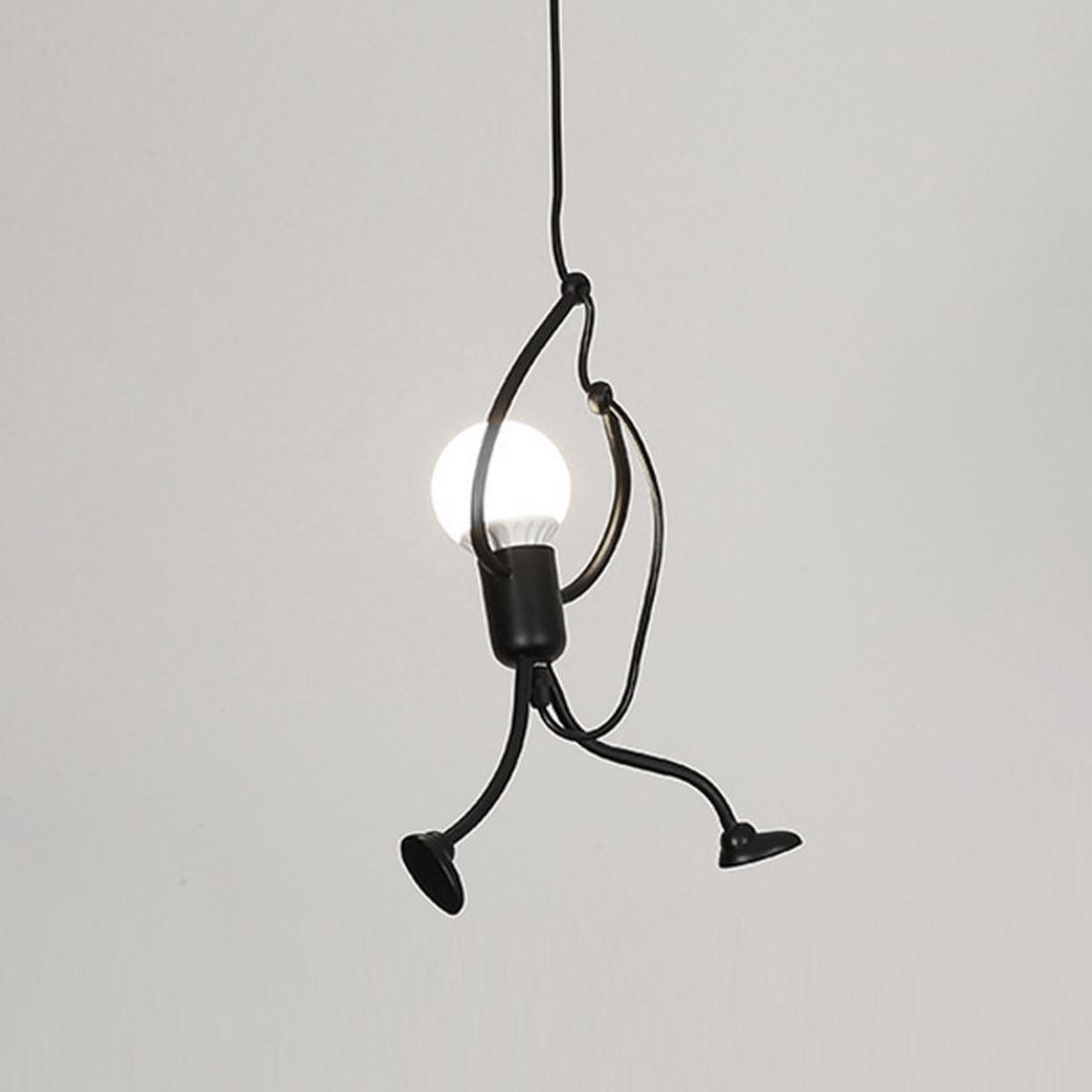 Ywxlight Nordic Modern Pendant Light Black Metal E27 Bulb Villain Modeling Led Lamp Restaurant Bedroom Living Room Cold White Alexnld Com
