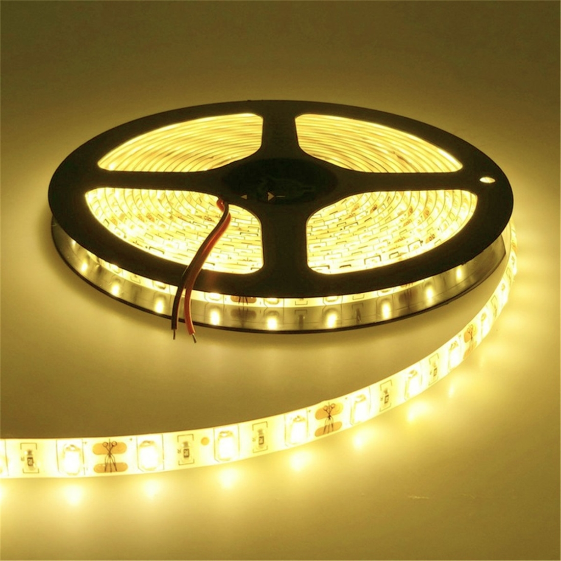 YWXLight IP20 300LEDs 5M SMD 5630 LED Strip Flexible LED Ribbon For Home Decoration DC 12V (Warm White)