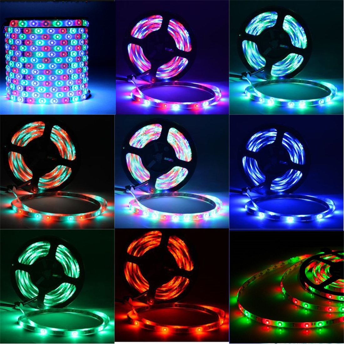4 PCS YWXLight RGB LED Strip 20M 2835 LED Light Lamps Waterproof SMD RGB Lights LED Ribbon