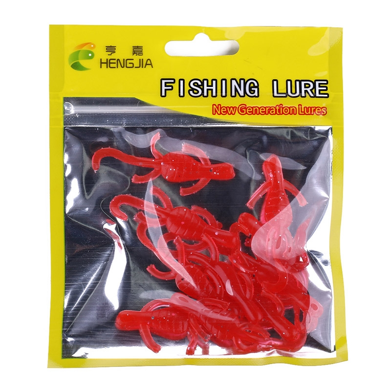 HENGJIA SO103 10 PCS 5cm/1g Gecko Shaped Simulation Fish Bait Soft Bait for Fishing (Red)