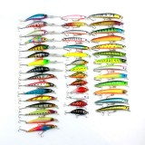 HENGJIA Set002 43 PCS Sequin Set Metal Sequins False Bait Fresh Sea Bass Fishing Bait Set, 5 to 10.5cm, Boxed