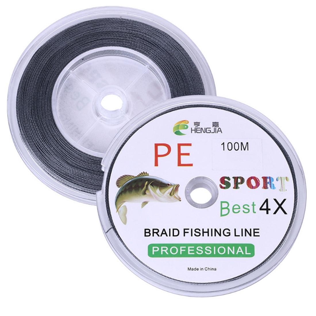 HENGJIA FLP41G 100m Gray 4 Series Strong Weaving Line Fishing Line PE Fishing Line (8.0)