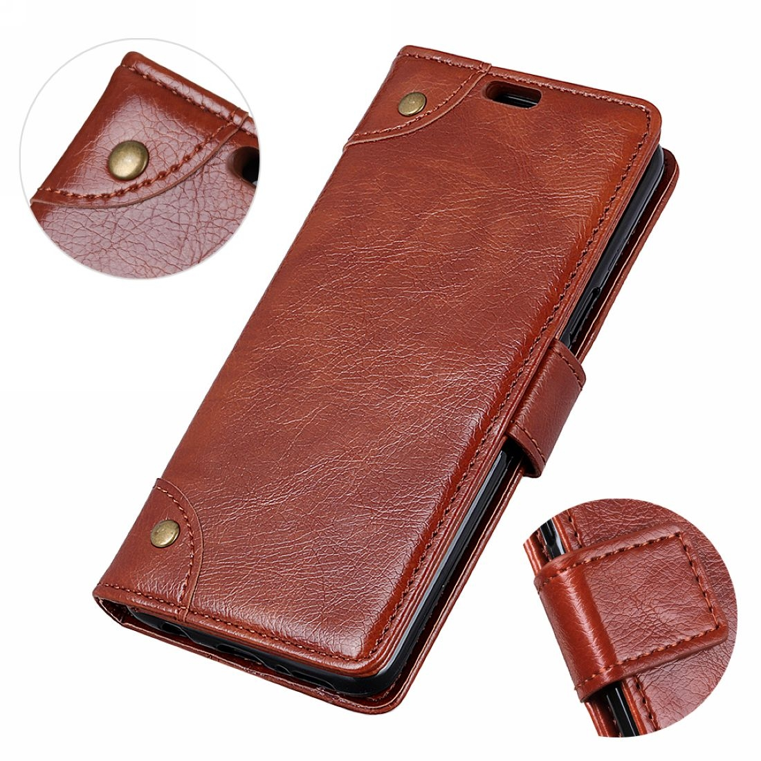 Copper Buckle Nappa Texture Horizontal Flip Leather Case for Huawei P30 Lite e003b727055
