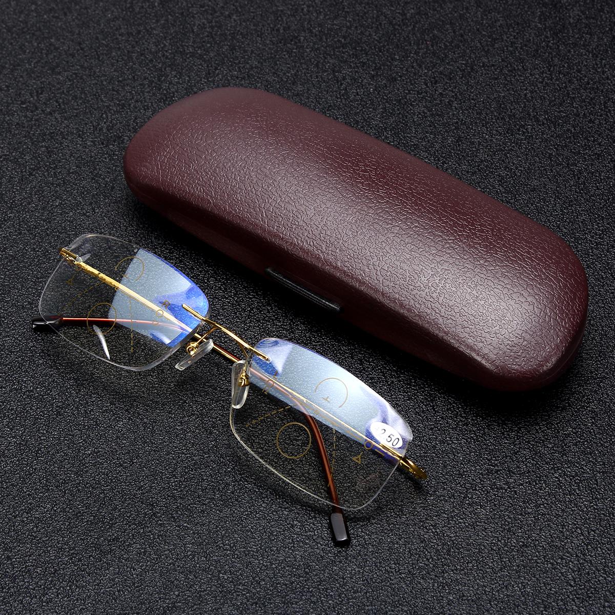 Anti Blue Ray Reading Glasses Progressive Multifocal Reading Glasses for Women Men With Box