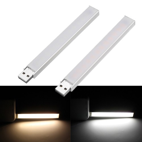 DC5V 4W SMD5730 12 LED Rigid Strip Light with Touch Switch Stepless Dimming Function for PC Computer