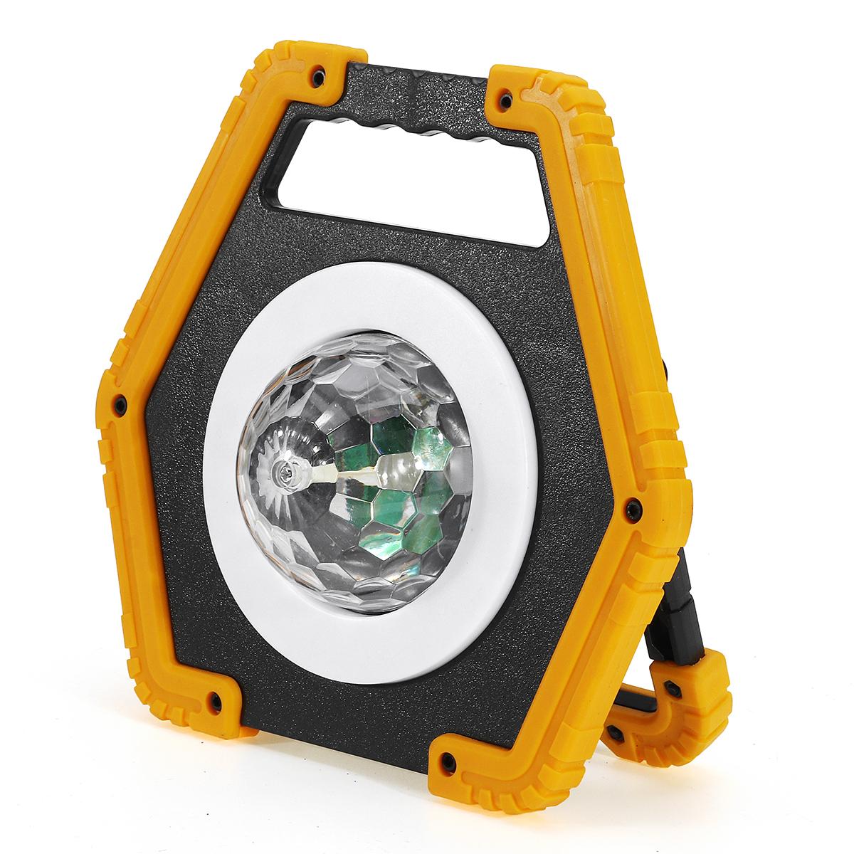 30W LED COB Work Light Spotlight Searchlight Flood Light Outdoor Camping Lantern 2 Modes Stage Lamp