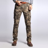 Men's Fashion Cargo Pants Multi Pockets Outdoors Camo Style Casual Cargo Pants