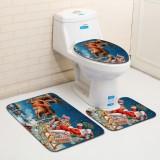 Washable Bathroom Toilet Seat Covers Bathroom Carpet Anti Slip Bathroom Mat Set Bath Floor Mats