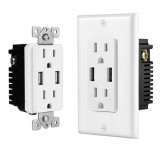 US Wall Socket 2 USB Outlets 2.4A/3.1A/4.2A Charger Socket Wall Socket Panel Switch