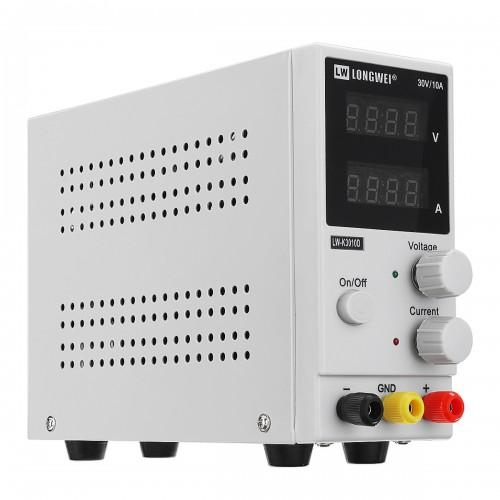LW-K3010D 110V/220V 30V 10A Adjustable DC Power Supply LED 4 Digits Display Switching Regulated Power Supply