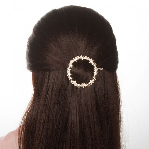 Trendy Hair Clip Hollow Round Five Point Stars Hair Accessories Headwear For Women