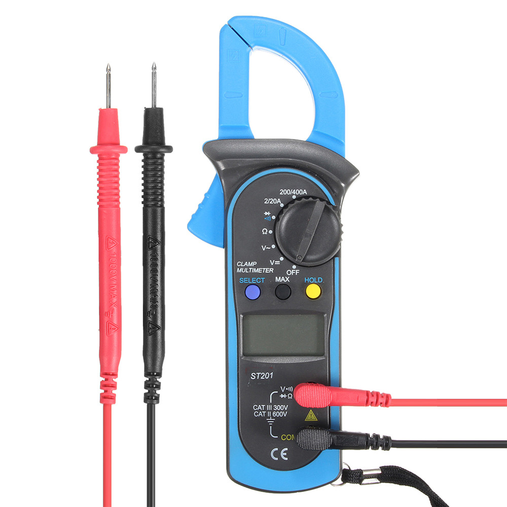 St201 Digital Multimeter Clamp Amperemeter Transistor Tester Spannungsprüfer