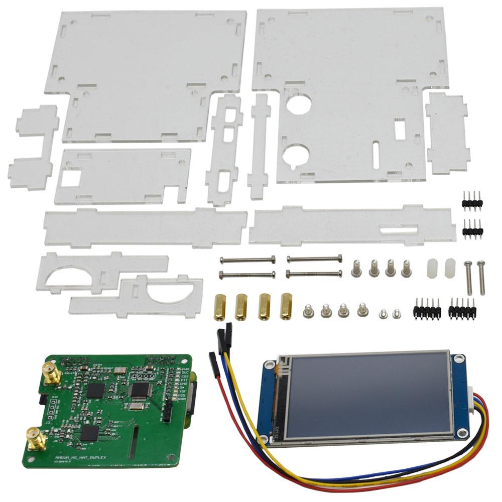 Duplex MMDVM Hotspot+Raspberry Pi-Zero+2pcs Antenna+3 2 LCD Screen  Display+Exclouse Case