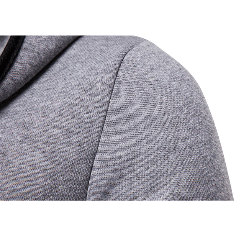 Mens Casual Mid Long Solid Color Long Sleeve Sweatshirts Thickened Big Pockets Open Hoodies