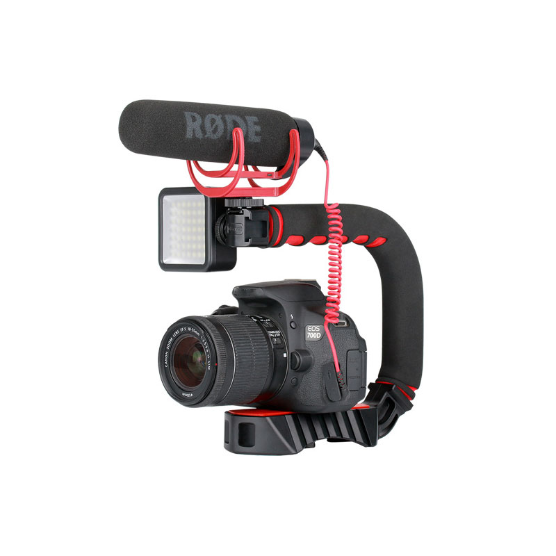 Video Camera Stabilizer >> Ulanzi U Grip Pro Triple Shoe Mount Video Camera Stabilizer Handle