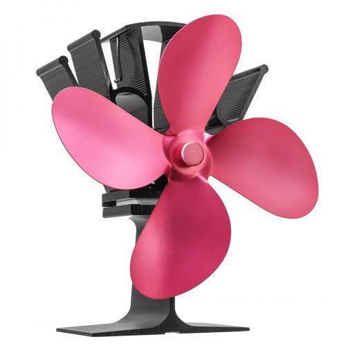 4 Blades Heat Powered Wood Stove Fan Ultra Quiet Fireplace Wood Burning Eco Fan