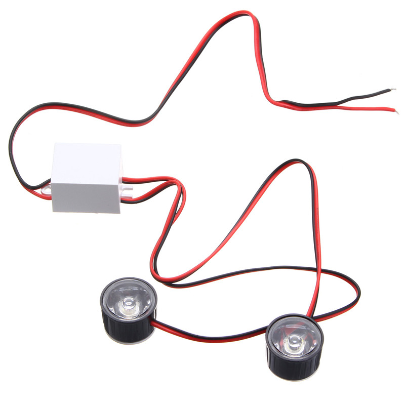 12V-80V Motorcycle LED Round Burst Flash Strobe Car Eagle Eye Lights Red Blue White