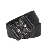 125cm AWMN S05-1 3.8cm Tactical Belt Quick Release Cobra Buckle Adjustable Men Wowen Nylon Belts