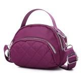 Women Leisure Waterproof Multi-Pocket Plaid Crossbody Bag Shoulder Bag