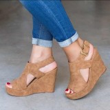 Women Platform Shoes Wedge Heels Sandals Peeps Comfortable Sandals