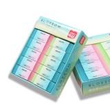 30pcs Deli Eraser Colored Jelly Rubber Eraser For Child