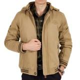 Mens Winter Big Size Thick Fleece Cotton Hooded Warm Jacket Outdoor Coat