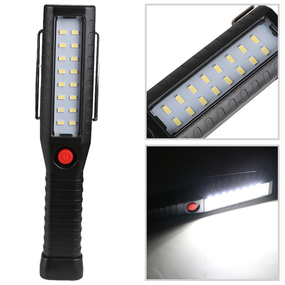 USB Rechargeable 16 LED Work Light Magnetic Hanging Inspection Lamp Flashlight Hook Camping Lamp Torch