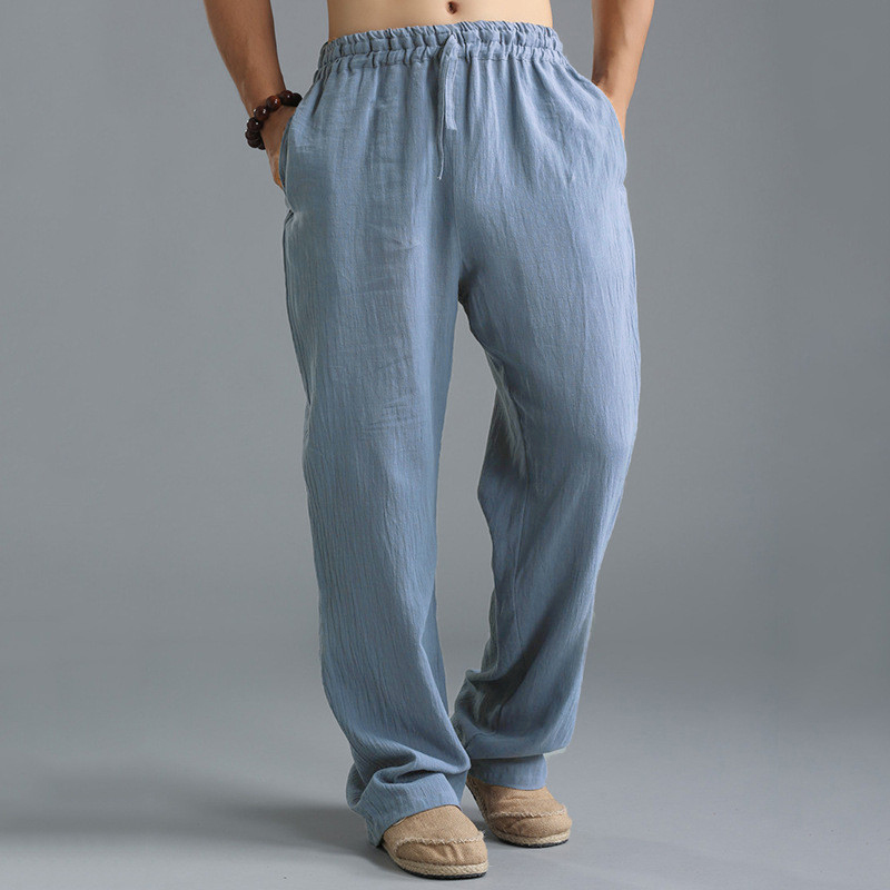 5b1ee1c694d8 INCERUN Mens Vintage Casual Baggy Solid Color Drawstring Chinese Style  Loose Pants