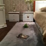 90x60cm Faux Wool Plush Rug Soft Shaggy Carpet Home Floor Area Mat Decoration