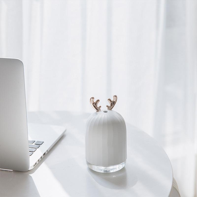Mini Rabbit Elk Air Humidifier Purifier Aroma Diffuser USB Charging Mist Maker Air Purifier