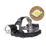 XANES 1800LM XHP50 LED Headlamp 18650 Battery USB Interface 3 Modes Waterproof Camping Hiking Cycling