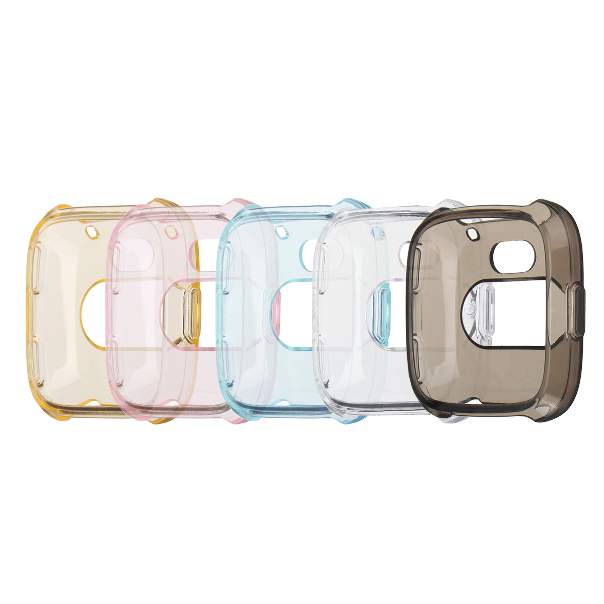 Bakeey Silicone Transparent TPU Case Cover Watch Cover Protective Skin Shell for Fitbit Versa Watch