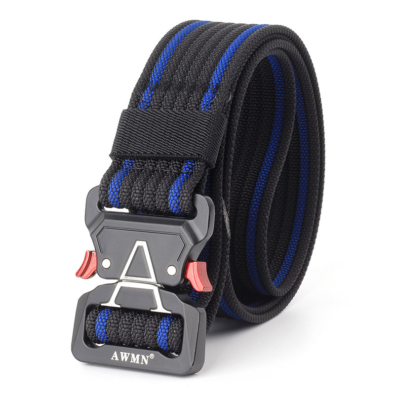 125cm AWMN S05-3 3.8cm Tactical Belt Inserting Quick Release Cobra Buckle Military Fan Hunting Nylon Belts