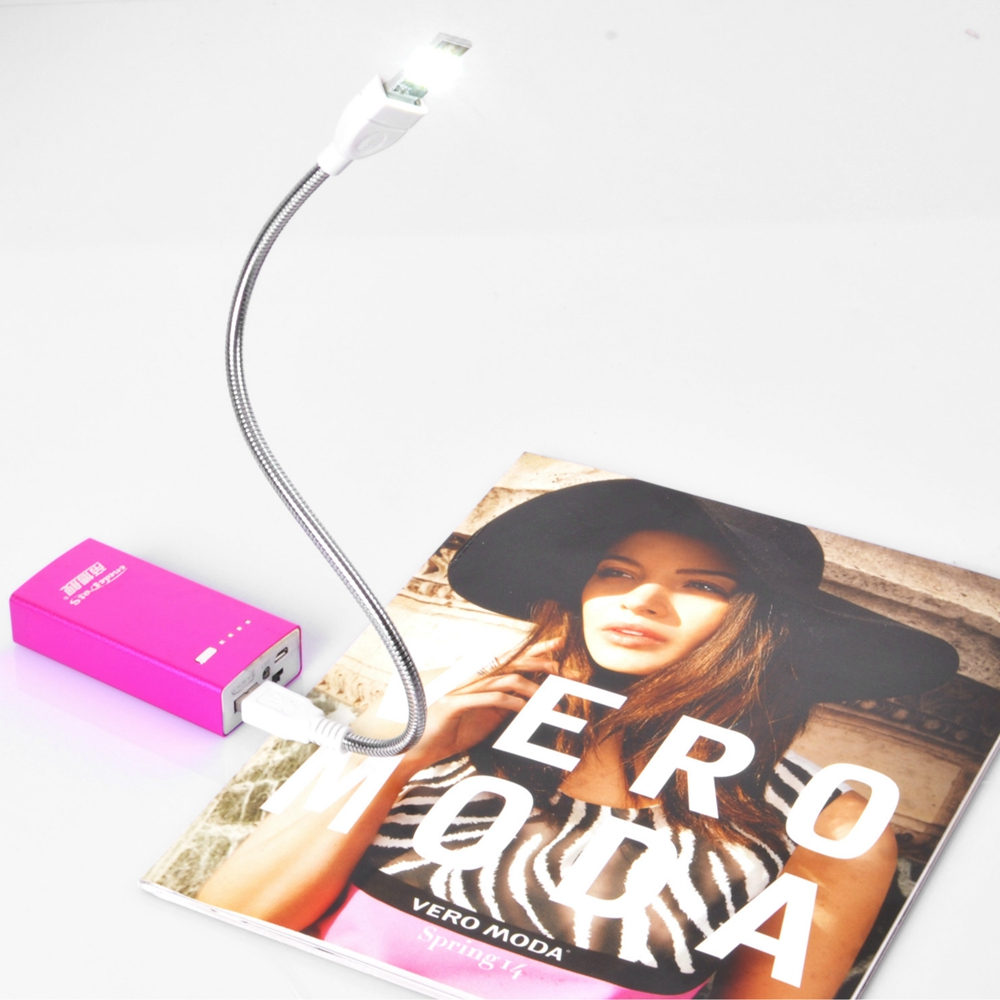 DC5V USB Finger Touch Stepless Dimming Book Table Night Lamp Power Bank 6 LED Rigid Strip Light