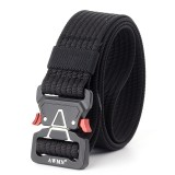 125cm AWMN S05-3 3.8cm Tactical Belt Inserting Quick Release Cobra Buckle Military Fan Hunting Nylon Belts