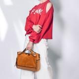 Vintage Rivet Boston Bag Handbag Shoulder Bag For Women